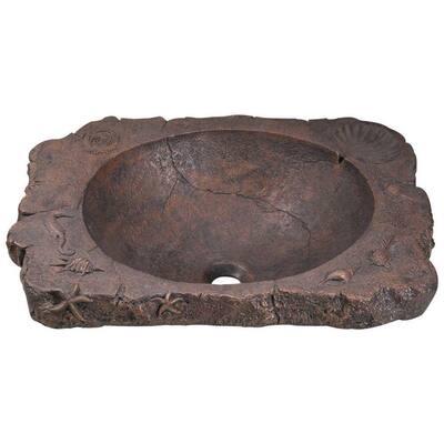 Topmount Bathroom Sink in Bronze