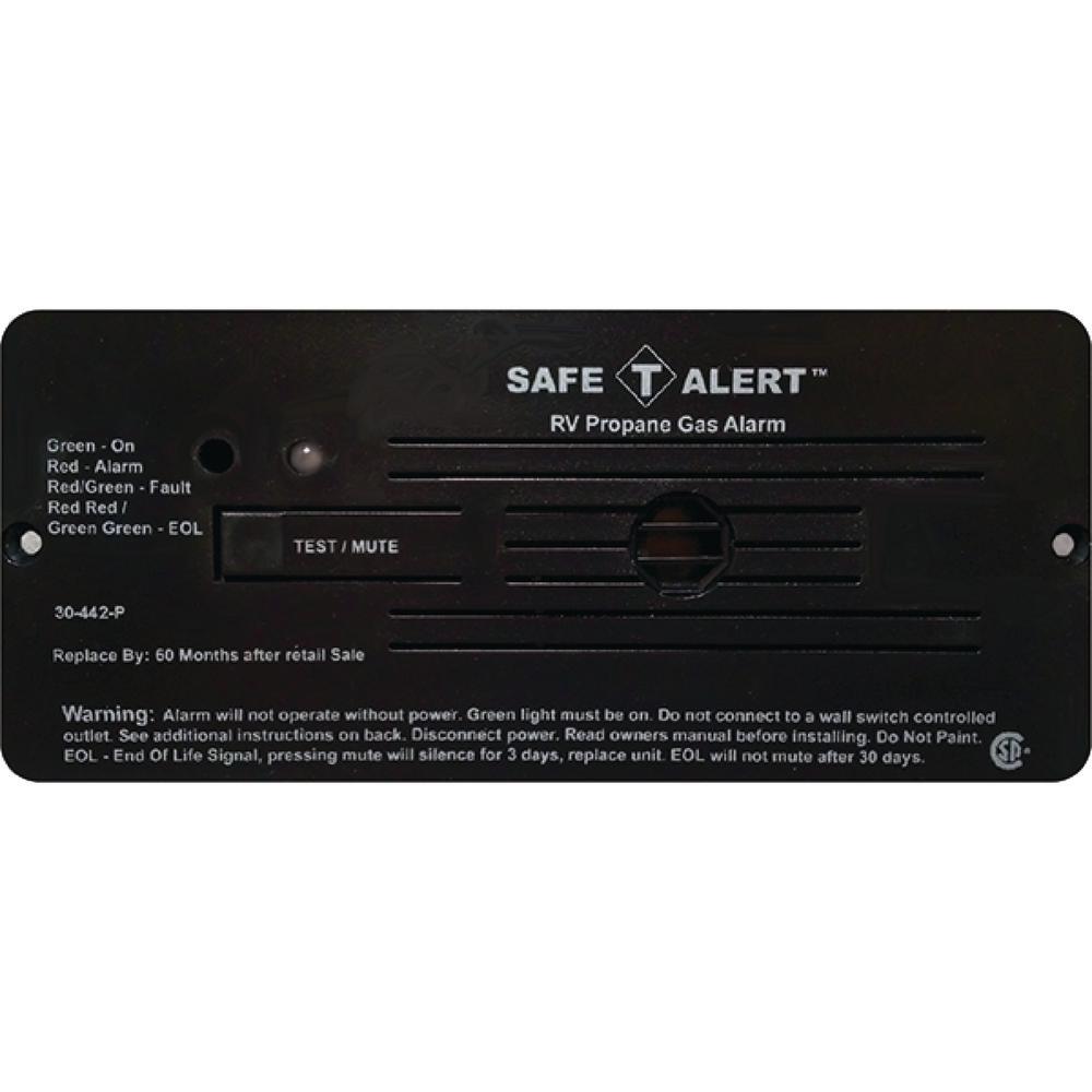 30 Series 12-Volt Safe-T-Alert Flush Mount RV Propane/LP Gas Alarm in Black