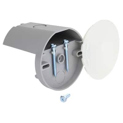 12 cu. in. Plastic NM Fan Box with Plastic Cover
