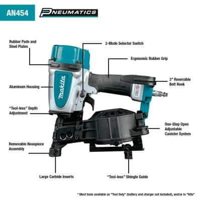 15 Degree 1-3/4 in. Pneumatic Coil Roofing Nailer