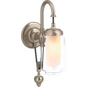 Artifacts 1-Light Vibrant Brushed Bronze Single Wall-Mount Sconce