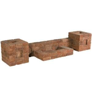 RumbleStone 112 in. x 21 in. x 24.5 in. Column/Wall Kit in Sierra Blend