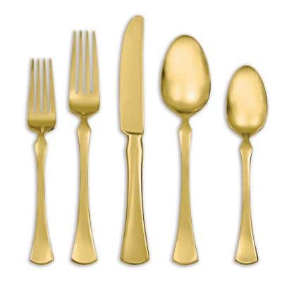 Refined Gold 20 Piece Flatware Set (Service for 4)