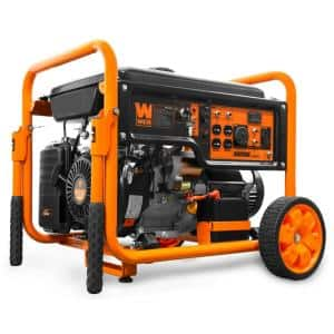 9500-Watt 420cc Transfer Switch and RV Ready 120V/240V Portable Gas-Powered Generator with Remote Electric Start, CARB
