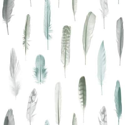 Nala Multicolor Feathers Paper Strippable Wallpaper (Covers 56.4 sq. ft.)
