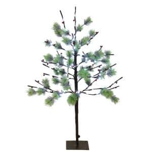 3 ft. Pre-Lit Twig Tree with 120 White LED Twinkle Lights