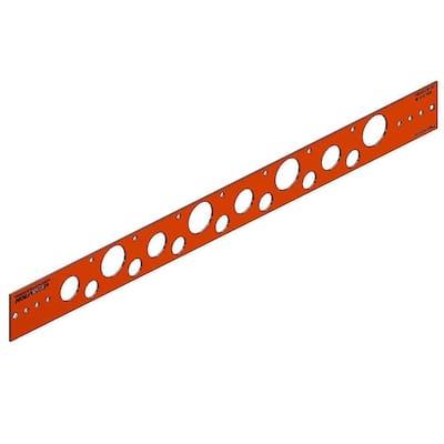 20 in. Flat Copper-Bonded Bracket for 1/2 in., 3/4 in. or 1 in. Pipe (50-Pack)