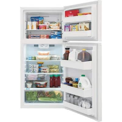 13.9 cu. ft. Top Freezer Refrigerator in White, ENERGY STAR