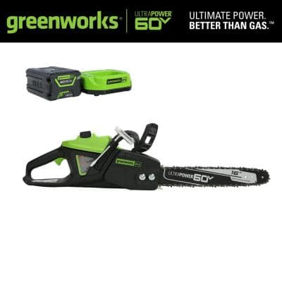 PRO 16 in. 60V Battery Cordless Chainsaw with 2.5 Ah Battery and Charger