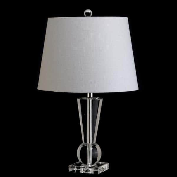 Jonathan Y Wynne 22 In Crystal Table Lamp Clear Jyl5016a The Home Depot