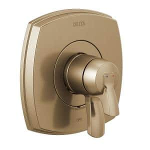 Stryke 1-Handle Wall Mount Diverter Valve Faucet Trim Kit in Champagne Bronze (Valve Not Included)