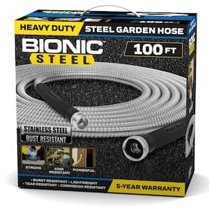 1/2 in Dia. x 100 ft. Heavy-Duty Stainless Steel Garden Hose