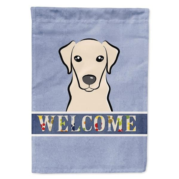 Caroline S Treasures 11 In X 15 1 2 In Polyester Yellow Labrador Welcome 2 Sided 2 Ply Garden Flag Bb1408gf The Home Depot