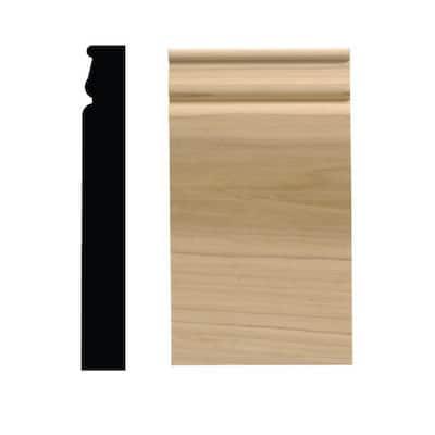 743PB 1-1/16 in. x 4-1/2 in. x 8 in. White Hardwood Plinth Block Moulding