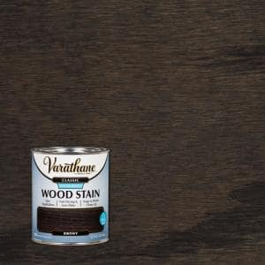 1 qt. Classic Ebony Water-Based Interior Wood Stain (2 Pack)