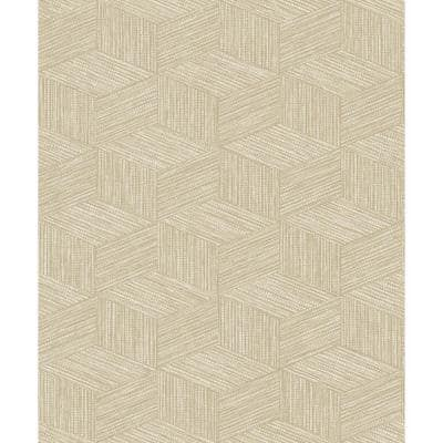 3 Dimensional Faux Grasscloth Wallpaper Taupe Paper Strippable Roll (Covers 57 sq. ft.)