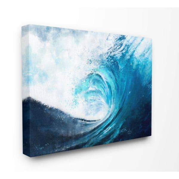 Stupell Industries Cresting Ocean Wave Blue Beach Painting By Ziwei Li Canvas Wall Art 20 In X 16 In Cwp 395 Cn 16x20 The Home Depot