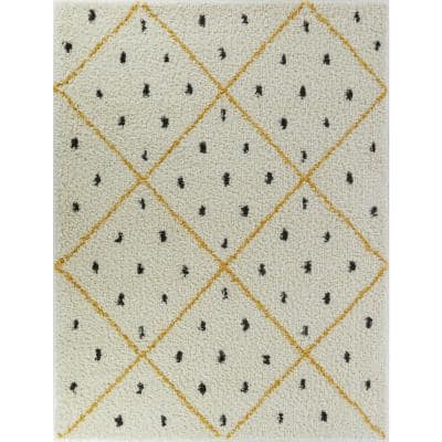 Trellis Yellow Area Rugs Rugs The Home Depot