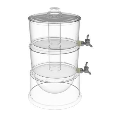 1.7 Gal. BPA-Free Plastic 2-Tier Beverage Dispenser