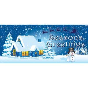 7 ft. x 16 ft. Winter Wonderland Christmas Garage Door Decor Mural for Double Car Garage