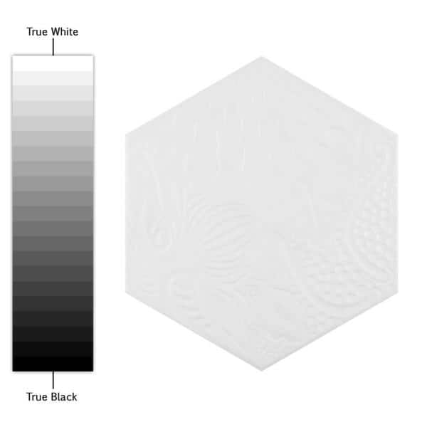 Merola Tile Gaudi Hex White 8 5 8 In X 9 7 8 In Porcelain Floor And Wall Tile 11 56 Sq Ft Case Fcd10gwx The Home Depot