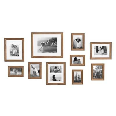 Bordeaux Natural Wood Picture Frames (Set of 10)