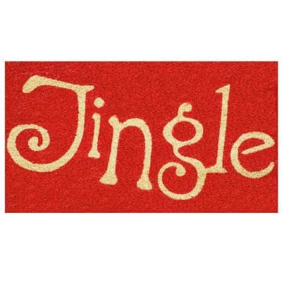 Jingle 29 in. x 17 in. Coir and Vinyl Door Mat