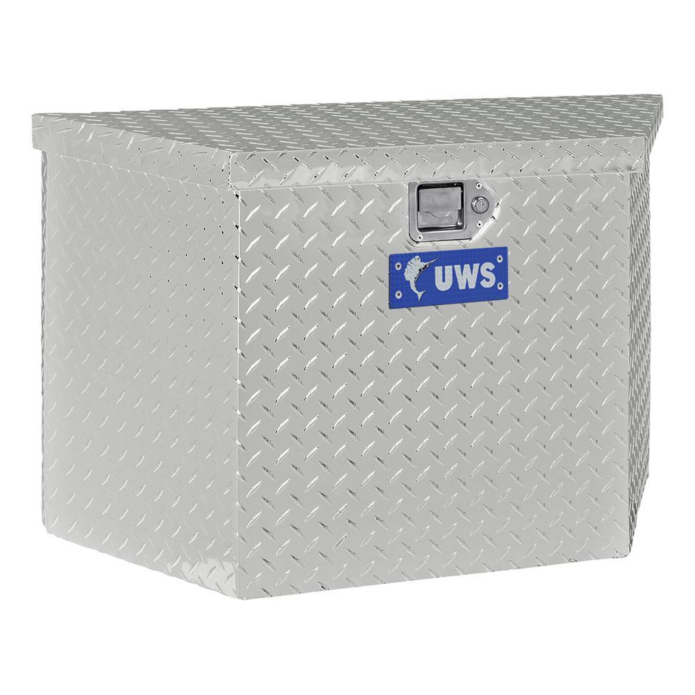 "Bright Aluminum 34"" Trailer Tongue Box (Heavy Packaging)"