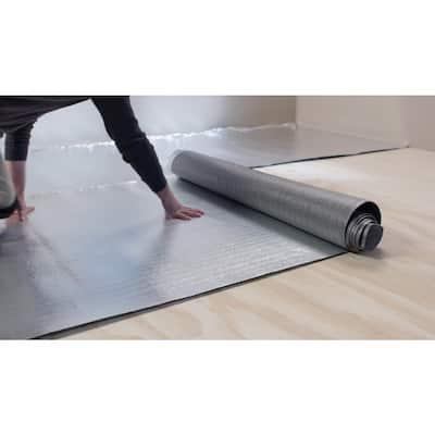 Standard 100 sq. ft. Rolls 25 ft. x 4 ft. x .080 in. Polyethylene Foam 2-in-1 Underlayment