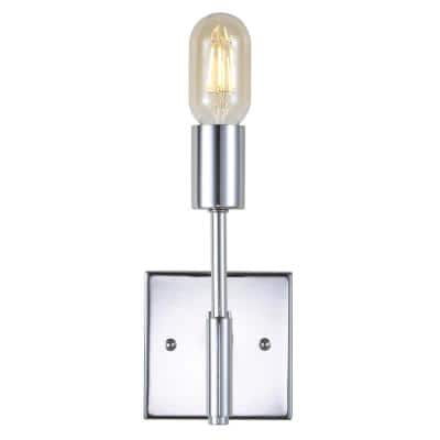 Turing 11.7 in. 1-Light Chrome Metal LED Wall Sconce