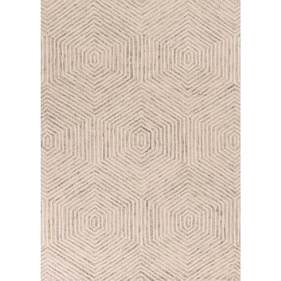 Honeycomb Ivory 8 ft. x 10 ft. Area Rug