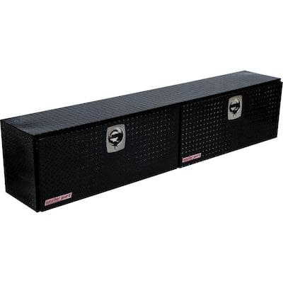 90.25 in. Gloss Black Aluminum Full Size Top Mount Truck Tool Box