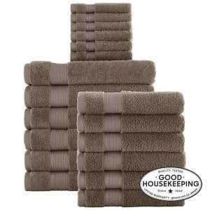18-Piece Hygrocotton Towel Set in Fawn Brown
