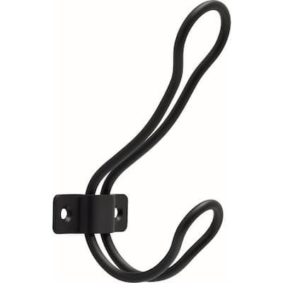 4-1/2 in. Matte Black Rustic Wire Coat Hook