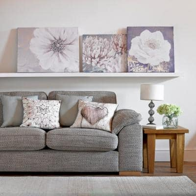 """31 in. x 24 in. """"Gray Bloom"""" by Graham and Brown Printed Canvas Wall Art"""