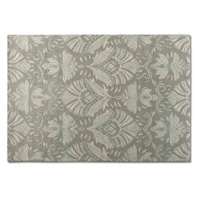 Morain Grey and Ivory 5 ft. x 8 ft. Area Rug