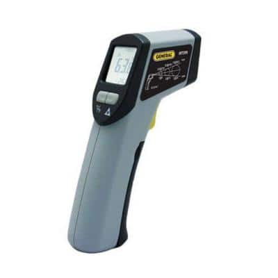 Laser Temperature Infrared Thermometer Gun with 8:1 Spot Ratio, Max Temp 608 Degree with Backlit LCD display