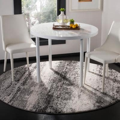 Spirit Charcoal/Light Gray 7 ft. x 7 ft. Round Solid Area Rug