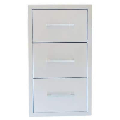 Signature Series 17 in. Beveled Frame Paper Towel Drawer Combo