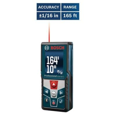 BLAZE 165 ft. Laser Distance Tape Measuring Tool with Bluetooth and Full Color Display