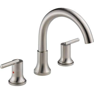 Trinsic 2-Handle Deck-Mount Roman Tub Faucet Trim Kit Only in Stainless (Valve Not Included)
