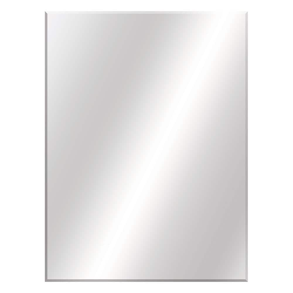 Glacier Bay 36 In W X 48 In H Frameless Rectangular Beveled Edge Bathroom Vanity Mirror In Silver 81179 The Home Depot