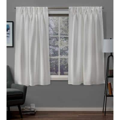 Vanilla Thermal Pinch Pleat Blackout Curtain - 30 in. W x 63 in. L (Set of 2)