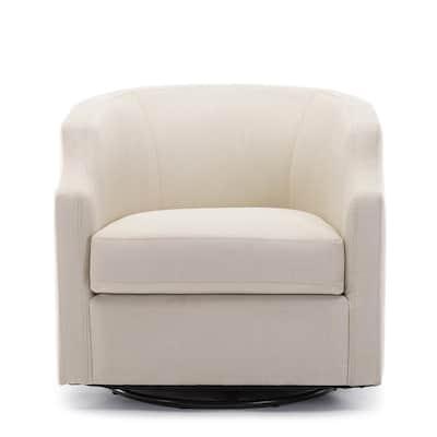 Infinity Linen Swivel/Rocker Barrel Chair