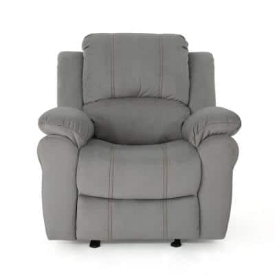 Celestina 39 in. Width Big and Tall Gray Microfiber Wall Hugger Recliner
