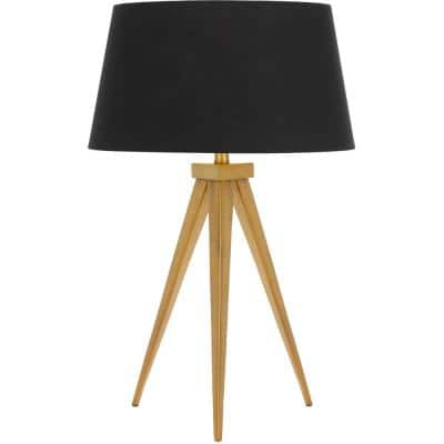 Sinatra 25 in. Antique Gold/Black Table Lamp