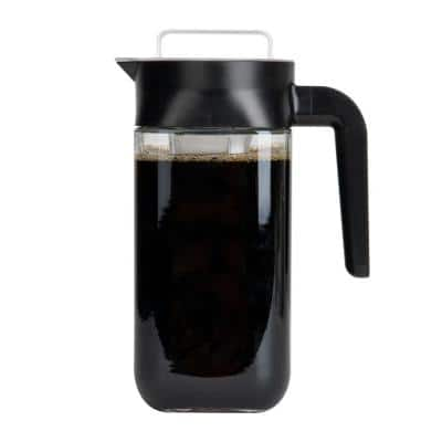 4-Cups Clear Cold Coffee Maker, Iced Brewer with Stainless Steel Filter