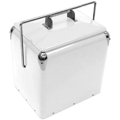 12 qt. White Retro Cooler
