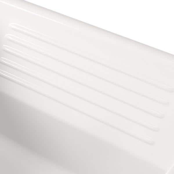 Thermocast Kensington Drop In Acrylic 25 In 3 Hole Single Bowl Utility Sink In White 21300 The Home Depot