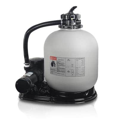 19 in. 2 sq. ft. Sand Filter System with 1.5 HP Swimming Pool Pump